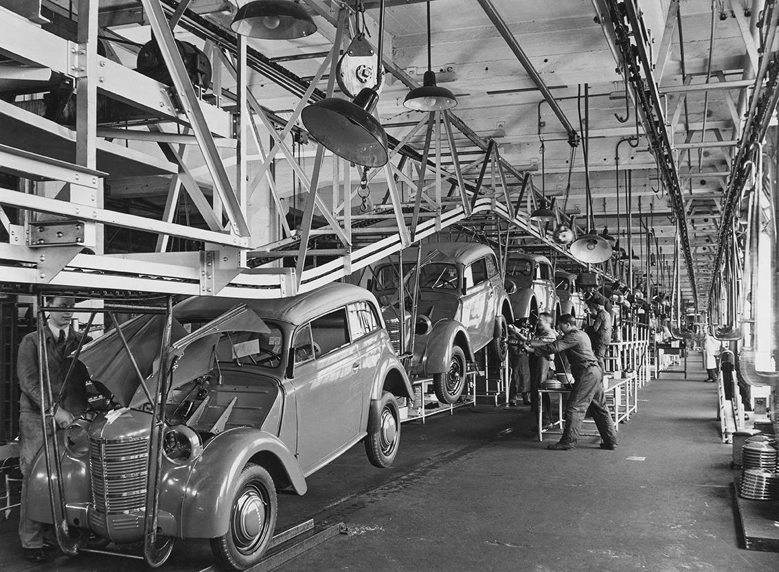 קו ייצור של אופל קדט משנת 1938